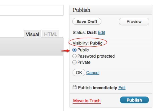Adjust Visibility Screenshot