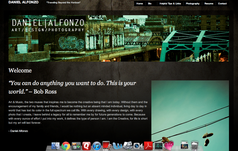ePortfolio Site screenshot