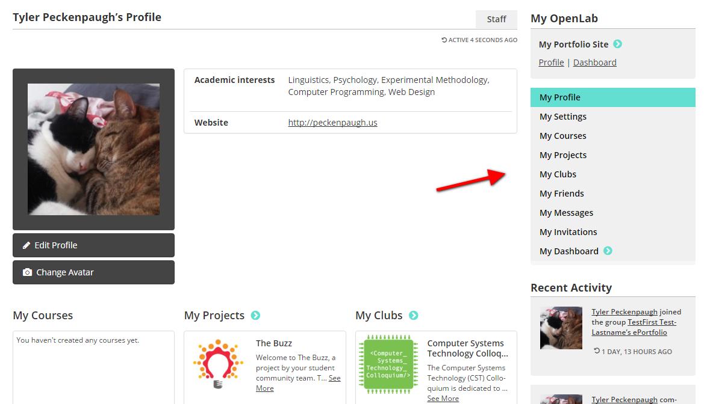 My OpenLab Screenshot