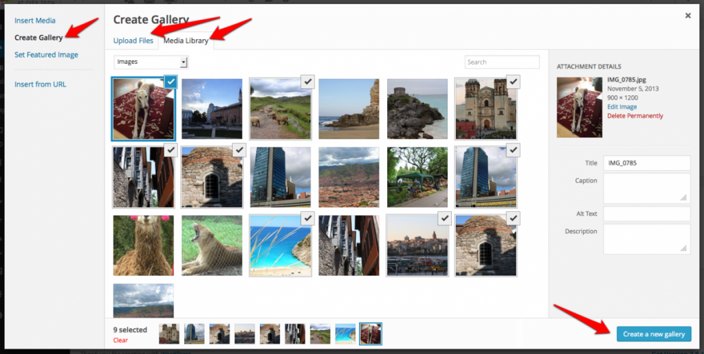 Create gallery screenshot