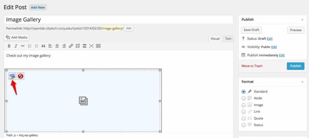 Edit gallery screenshot