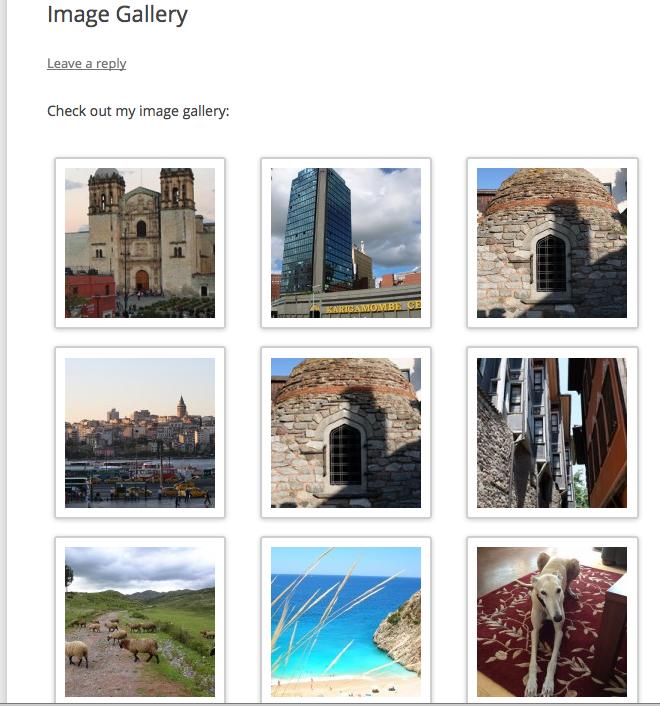 Publish gallery screenshot