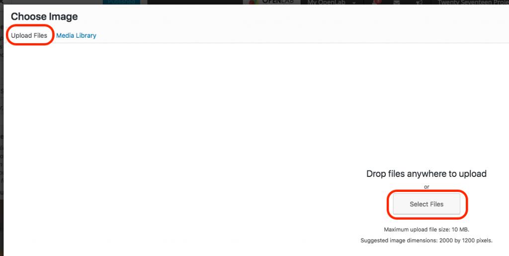 Screenshot of changing header step 2