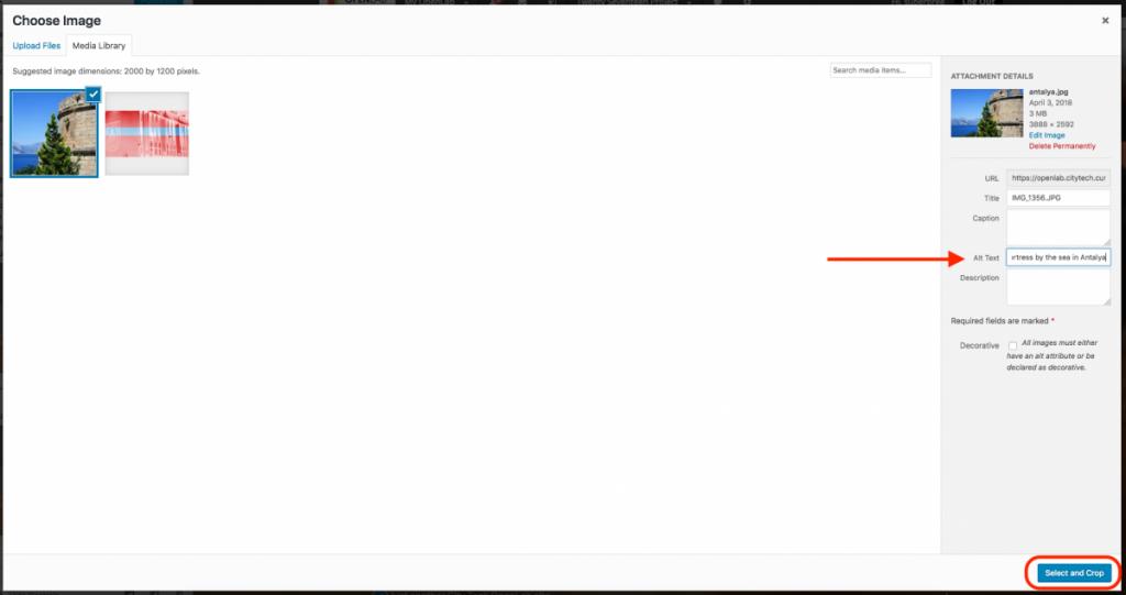 Screenshot of changing header step 3
