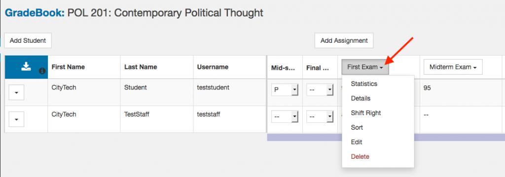OpenLab Gradebook screenshot 8
