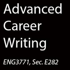 ENG3771 Advanced Career Writing, SP2015