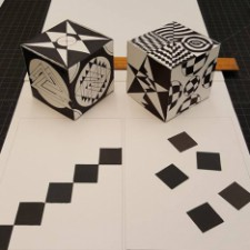 3-D Paper Cubes