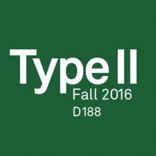 COMD2327 D188 Typographic Design II, FA2016