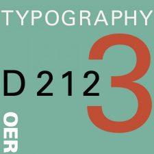 COMD 2427 Typographic Design III D212 Fall18