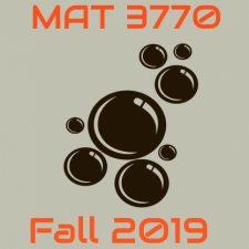 MAT 3770 Math Modeling I, Fall 2019