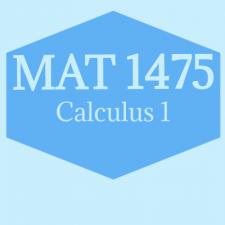 MAT1475 Calculus I Spring 2020