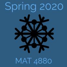 MAT 4880 Math Modeling II, Spring 2020