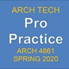 ARCH4861 ProPrac, SP2020