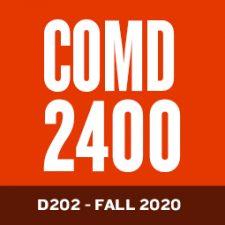 COMD2400-D202-FA2020