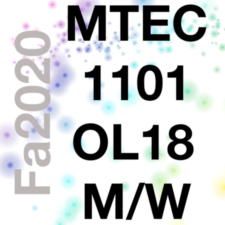 MTEC1101-OL18 Emerging Media, Fa2020