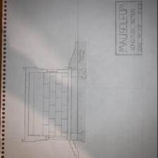 Section Drawing for Mausoleum