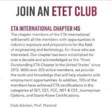 Electronics Technicians Association – International Club
