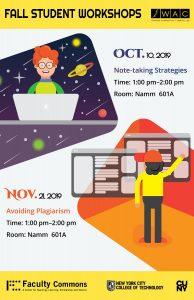 Fall 2019 Student Workshops