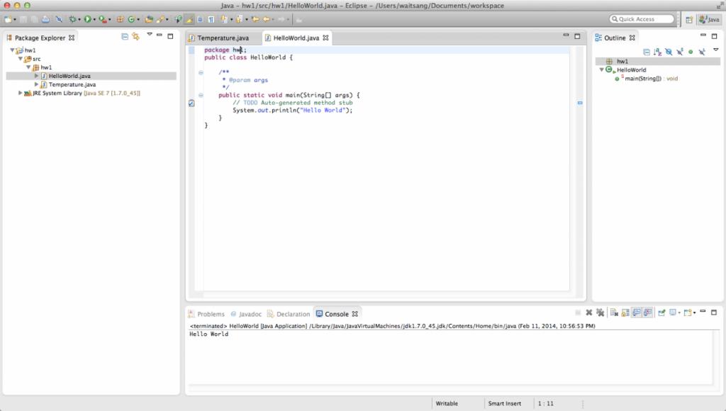 Lab 0 screenshot.