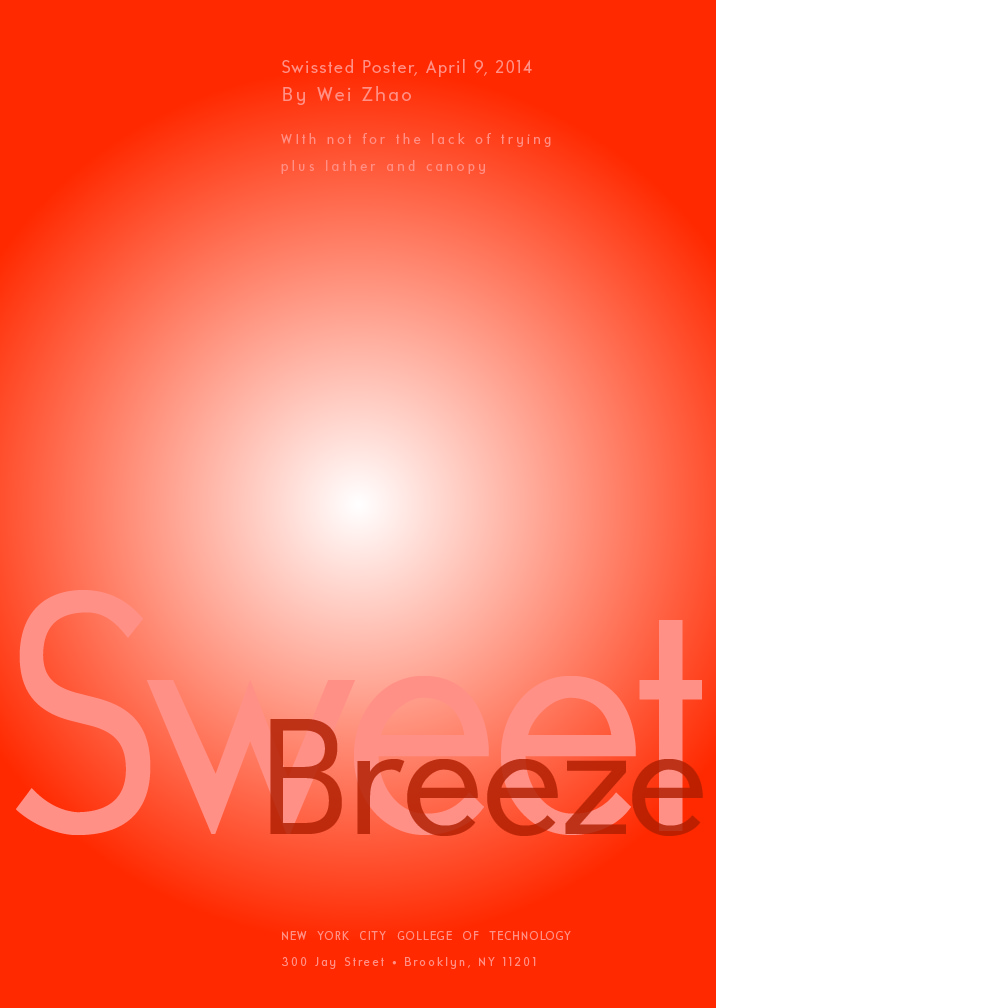 Swissted poster